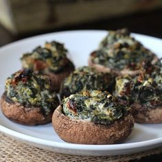 Spinach & Goat Cheese Stuffed Mushrooms_fdgwker