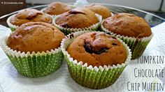 We are the DinoFamily 我們是恐龍家族: Pumpkin Chocolate Chip Muffins Pumpkin Chocolate Chip Muffins, Family Life, Deli, Singapore, Dishes, Baking, Breakfast, Kitchen, Recipes
