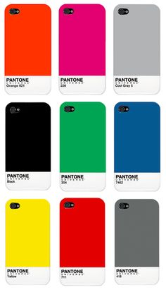 Pantone iPhone cases found via Matchbook Magazine. Pantone Black, The Things They Carried, Pantone Universe, Cell Phone Covers, Gadgets And Gizmos, The More You Know, Iphone Accessories, Iphone Cases, Iphone 4