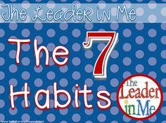 Free Leader in My 7 Habits Posters by Jen Jones-Hello Literacy