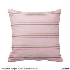 Fresh Pink Striped Pillow