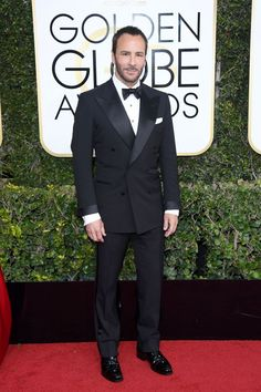 Tom Ford wearing head-to-toe Tom Ford - January 9 2017 Tom Ford Tuxedo, Tom Ford Suit, Tom Ford Men, Tuxedo Suit, Tuxedo For Men, Mens Fashion Suits, Mens Suits, Men's Fashion, Mens Evening Wear