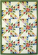 Free pattern! blooming beauties  quiltinspiraton.blogspot.com