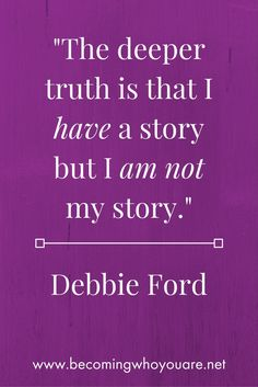 Love this quote from Debbie Ford