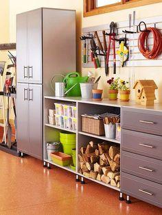 Organizando as ferramentas, a garagem, o depósito, oficina...  via BHG
