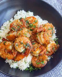 Baked Shrimp Recipes, Shrimp Recipes For Dinner, Seafood Recipes, Healthy Dinner Recipes, Pasta Recipes, Healthy Dishes, Simple Recipes, Seafood Dishes, Vegetarian Meals