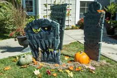 Get your yard ready for #Halloween with these realistic and spooky DIY Halloween Tombstones by @kennethwingard! For more scary DIYs tune in to Home & Family every weekday in October at 10a/9c on Hallmark Channel!