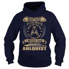 (Tshirt Amazing Sale) AHLQUIST Last Name Surname Tshirt Order Online Hoodies Tees Shirts