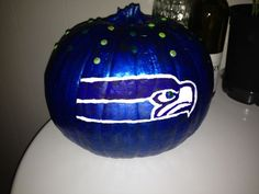 Painted Seahawk Pumpkins