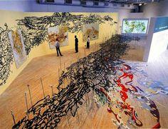 Matthew Ritchie - Installation View 2002 #art #painting