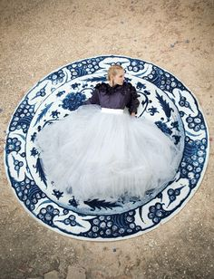 Delft-Inspired Bridal Shoot at Groot Constantia