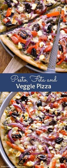pizza recipes Pesto, Feta, and Veggie Pizza . a delicious vegetarian pizza recipe thats impossible to resist! This easy, homemade veggie pizza recipe is packed with fresh vegetabless and flavorful, healthy ingredients. Vegetarian Pizza Recipe, Healthy Pizza Recipes, Clean Eating Vegetarian, Cooking Recipes, Healthy Homemade Pizza, Pizza Recipes With Pesto, Homemade Vegetable Pizza Recipe, Clean Eating Pizza, Amazing Vegetarian Recipes