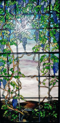 Tiffany style copperfoiled stained glass window measuring x Stained Glass Panels, Leaded Glass, Stained Glass Art, Tiffany Stained Glass, Tiffany Glass, Mosaic Art, Mosaic Glass, Mosaic Windows, Glass Artwork