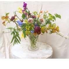 Spring bouquet, all flowers & leaves are from my own garden