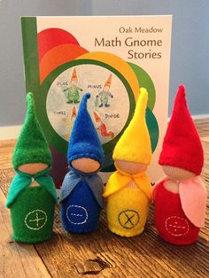 Gnomes Oak Meadow Math Gnomes come with their own wee storybook of adventures!Oak Meadow Math Gnomes come with their own wee storybook of adventures! Waldorf Preschool, Waldorf Crafts, Montessori Math, Homeschool Math, Homeschooling Resources, Educational Activities For Preschoolers, Math Activities, Waldorf Education, Childhood Education