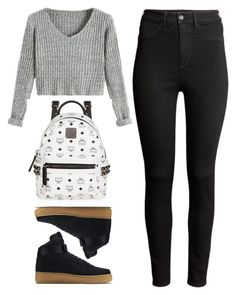 """#910"" by anna-annita ❤ liked on Polyvore featuring MCM, NIKE and H&M"