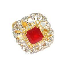 Buy Anjalika Red Ring by Anjalika, on Paytm, Price: Rs.618?utm_medium=pintrest