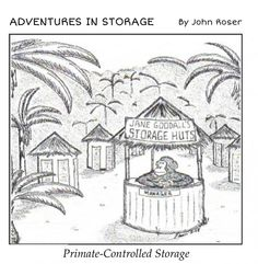 See even self storage has a sense of humor ! Budget Storage, Self Storage, Built In Storage, Creative Pictures, Funny Pictures, Some Jokes, Primates, Just For Fun, Make You Smile