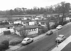 Excalibur Estate prefabs in Catford, South London (looks as if this photograph was taken in when the estate was starting to get a bit run down in places) Uk History, London History, British History, Modern History, Local History, Family History, Vintage London, Old London, Old Pictures