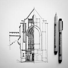 Half #sketch #drawing #architecture by Dan Hogman, via Flickr