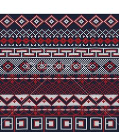 Knitted background in Fair Isle style in three colors — Stock Illustration #23673785