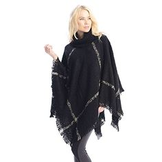 Check out the review here: http://www.ponchofashion.com/2015/01/04/pretty-fashion-womens-turtleneck-soft-plaid-ponchos-sweater-scarf-review/