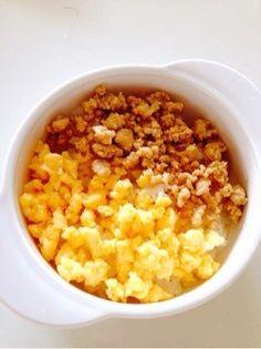 離乳、幼児食✿1歳のランチ✿そぼろ2色丼 by forHiNa [クックパッド] 簡単おいしいみんなのレシピが231万品