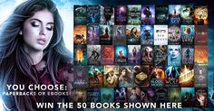 Win *FIFTY* #YA & #NewAdult #UF #Fantasy, #Paranormal #Romance #PNR, & #Dystopian, #ebooks or #paperbacks