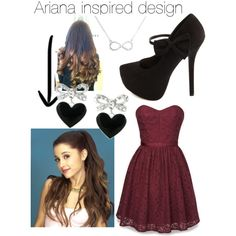 """Ariana Grande inspired Outfit"" by rhiwice-tw on Polyvore"