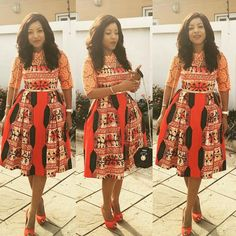 ankara short gown  styles  7 http://maboplus.com/lovely-ankara-style-short-gown-for-beautiful-ladies/