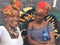 Beautiful reunion with an old friend   Last saw her in 2014   #forthequeens #headwrap #headscarf #tuku #onfleek #blackgirlsrock #melanin #africanqueen #africanprint #kente #yaaaasss #mrsmelanin #mrsceo