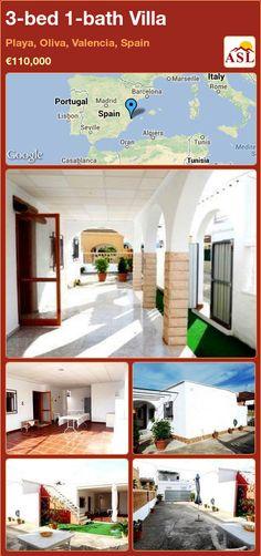 3-bed 1-bath Villa in Playa, Oliva, Valencia, Spain ►€110,000 #PropertyForSaleInSpain