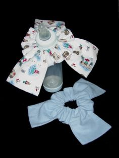 TWO Custom Bottle Bibs for Baby Cute shower by CaliforniaSeaming