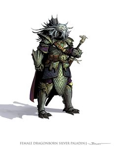 f Dragonborn Paladin Hvy Armor Greatsword traveler John-Paul Balmet: Dungeons and Dragons Edition Player's Handbook Concepts Dragon Rpg, Fantasy Dragon, Fantasy Warrior, Fantasy Rpg, Medieval Fantasy, Female Dragonborn, Dnd Dragonborn, Fantasy Pictures, Fantasy Images