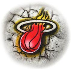 Miami Heat spirit    airbrushed tshirt or tank by StreaksandBlurs, $12.99