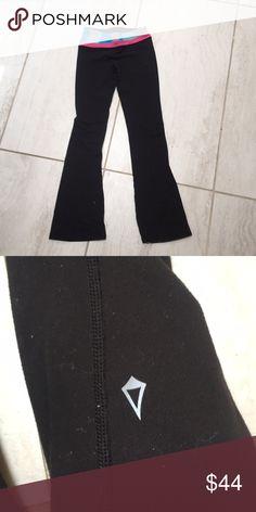 ivivva yoga pants flared yoga pants or leggings with patterned waistband Pants Leggings