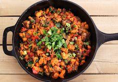 Sweet Potato and Poblano Hash – Gluten-free + Dairy-free with Vegan Option by Tasty Yummies