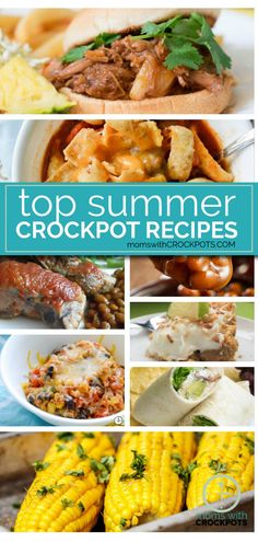 Don't heat up the house! Pull out that slow cooker! Check out the top Summer Crockpot Recipes on MomsWithCrockpots.com