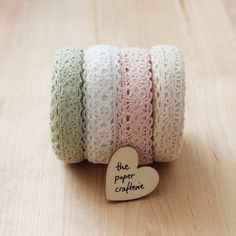 Lace Fabric Sticky Tape Adhesive Card Making by ThePaperCrafterie