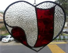 Stained Glass Heart with Letter