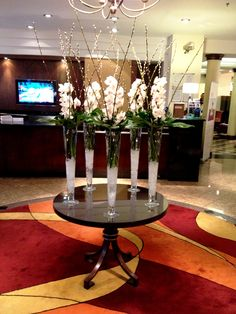 October lobby flowers in the London Marriott Hotel Regents Park