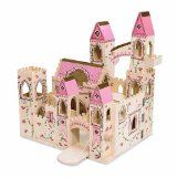 Melissa And Doug Melissa & Doug Folding Princess Castle - Every little princess longs for a castle of her own. This one is decorated with regal accents fit for a queen. Wooden Castle, Toy Castle, Castle Dollhouse, Wooden Dollhouse, Cardboard Castle, Dollhouse Dolls, Barbie Furniture, Kids Furniture, Wooden Furniture