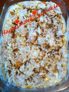 Yoğurtlu Cevizli Tavuk Göğsü Salatası Turkish Salad, Turkish Kitchen, Cauliflower, Macaroni And Cheese, Salads, Brunch, Appetizers, Chicken, Meat