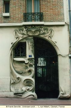 Magical Door at 1, rue Hebert, Clamart, France. Photograph by Frank Derville. Architect unknown.