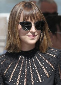Dakota Johnson wears the new 2016 style JOSA to the premier of Black Mass at the Venice Film Festival