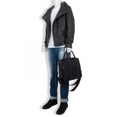 D&G; Hooded Leather Jacket at £990.  Entire Outfit!