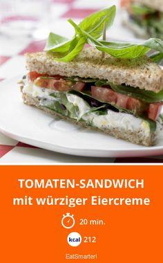 Tomaten-Sandwich - mit würziger Eiercreme - smarter - Kalorien: 212 kcal - Zeit: 20 Min. | eatsmarter.de