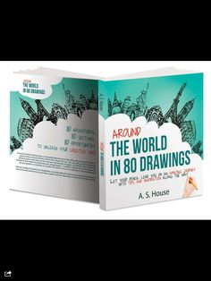 Around the world in 80 drawings- different world landmarks drawn out gorgeously. Seriously some of the best drawings I have seen of these places.   This book is a must check out!