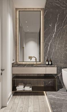 "TOL'KO / ""RICE FLAT"" Archive project 2018 on Behance Interior Design Toilet, Hotel Bathroom Design, Washroom Design, Toilet Design, Modern Bathroom Design, Bathroom Renovations, Interior Design Kitchen, Luxury Toilet, Home Room Design"
