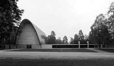 Vatiala Chapel, Tampere, Finland, 1961 (Viljo Revell) Sacred Architecture, Finland, Construction, Building, Modern Houses, Geometry, Theory, Fiction, Sketch
